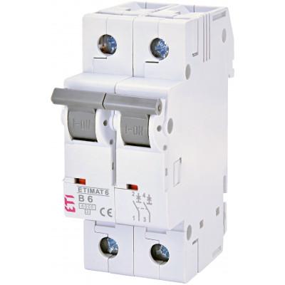 Автоматичний вимикач ETI ETIMAT 6 2p В 6А (6 kA)