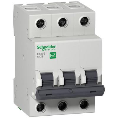 Автоматичний выключатель EASY 9 3П 25А 4,5 ка характеристика
