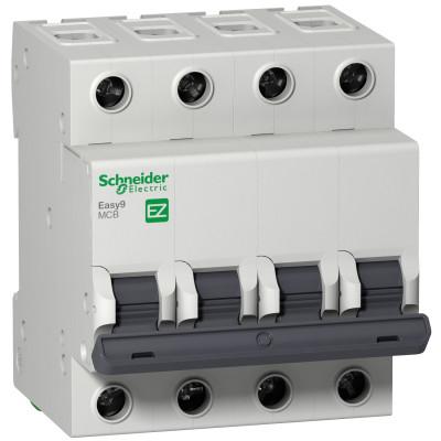 Автоматичний вимикач EASY 9 4П 25А 4,5 ка характеристика
