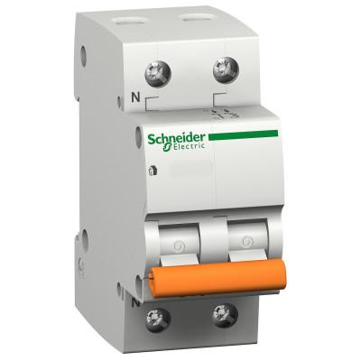 Автоматичний вимикач  ВА63 1П+Н 25A C 11215