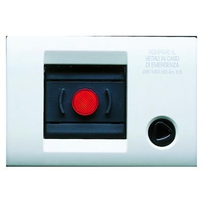 Самонесуча плита керування лифтом  колір - Білий серія PLAYBUS