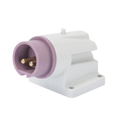 90° кутова накладна вилка   колір - фіолетовий нейтраль зправа Гвинтові клеми