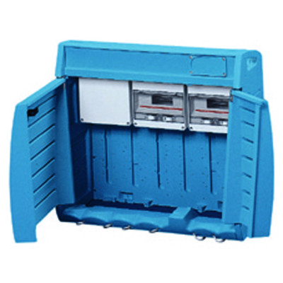 Q-BOX порожній з клемами заземлення (2х25) + (10х10) модулі MMQ 24 EN 50022