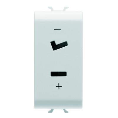 SELV розетка 2P 6A 24V Поляризація 1 модуль колір - Білий Серія Chorus