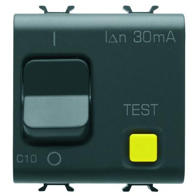 Вимикач залишкового струму з захисту від перевантажувального струму Крива C Клас А  2 модулі чорний Серія Chorus
