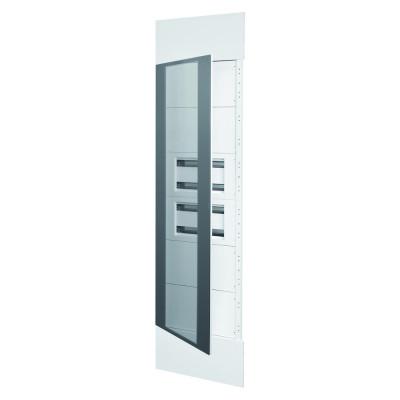Domo Center Лицьова панель Дверцята з димчастого напівпрозорого скла 2 секції на 40 модулів  з металу