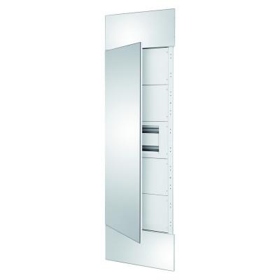 Domo Center Лицьова панель дзеркальні дверцята 1 секція на 40 модулів  з металу колір - Білий (RAL9003)
