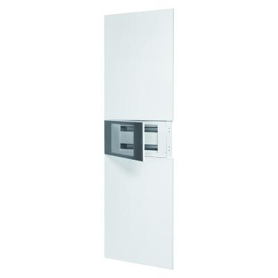 Domo Center Лицьова панель без дверцят 1 секція на 40 модулів  з металу колір - Білий (RAL9003)