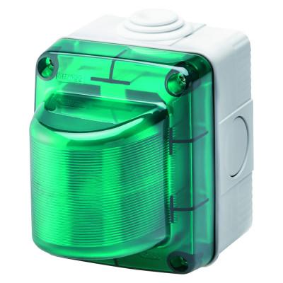 індикаторні лампи  230V зелений дифузор  колір Сірий (RAL7035)