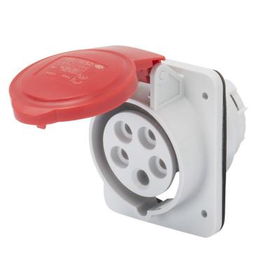 10° кутова утоплювана розетка HP   колір - червоний  Гвинтові клеми