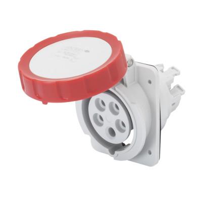 10° кутова утоплювана розетка HP   колір - червоний  Швидке підключення