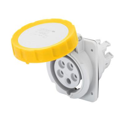 10° кутова утоплювана розетка HP   колір - Жовтий  Швидке підключення