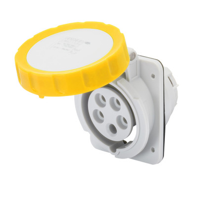 10° кутова утоплювана розетка HP   колір - Жовтий  Гвинтові клеми