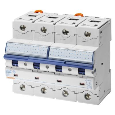 Високоефективний мініатюрний вимикач  4P Крива C 40A 6 модулів