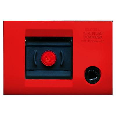 Самонесуча плита керування для аварійної сигналізації  колір - червоний серія PLAYBUS