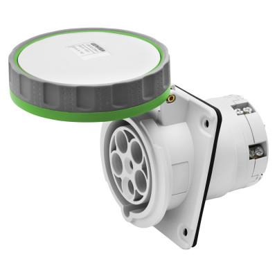 10° кутова утоплювана розетка HP   колір - зелений  захищений ввід