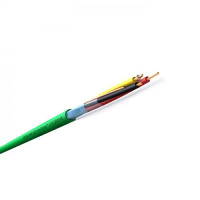 KNX-кабель 2х2х0.8 зелений, halogen free, рулон 100м