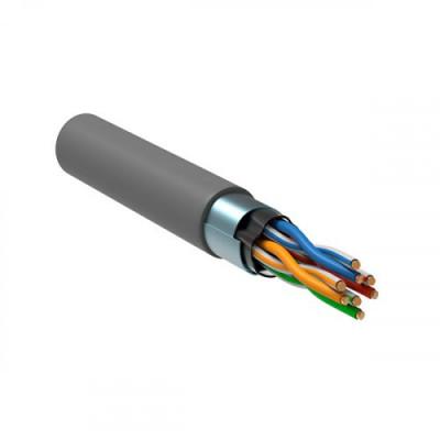 ITK Кабель зв`язку вита пара F/UTP, кат.5E 4x2х24(0,51мм)AWG solid, PVC, 305м, IEK, сірий