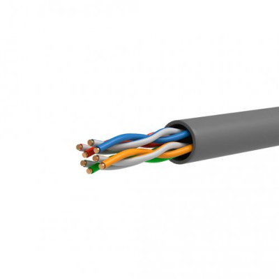 ITK Кабель зв`язку вита пара ШПД U/UTP, кат.5E 4х2х0,48мм solid, LDPE, 305м, IEK, чорний