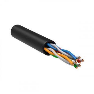ITK Кабель зв`язку вита пара U/UTP, кат.5E 4х2х24(0,51мм) AWG solid, LDPE, 305м, IEK, чорний