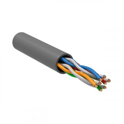 ITK Кабель зв`язку вита пара U/UTP, кат.5E 4х2х24(0,51мм)AWG solid, PVC, 305м, IEK, сірий