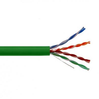 ITK Кабель зв`язку вита пара U/UTP, кат.5E 4x2х24(0,51мм)AWG solid, LSZH, 305м, IEK, зелений
