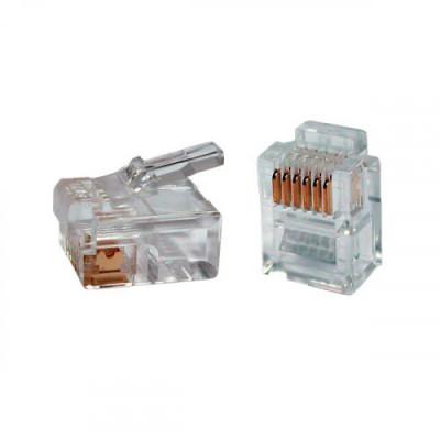 ITK Роз`єм RJ12 UTP для кабелю кат.3, 6P4C