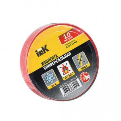 Ізострічка ПВХ (0,13х15 мм) червона 10 метрів IEK, UIZ-13-10-10M-K04