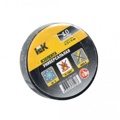 Ізострічка ПВХ (0,13х15 мм) чорна 10 метрів IEK, UIZ-13-10-10M-K02