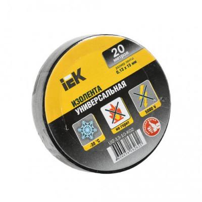 Ізострічка ПВХ (0,13х15 мм) чорна 20 метрів IEK, UIZ-13-10-K02