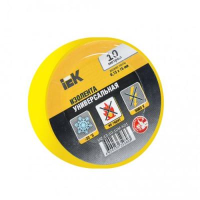 Ізострічка ПВХ (0,13х15 мм) жовта 10 метрів IEK, UIZ-13-10-10M-K05