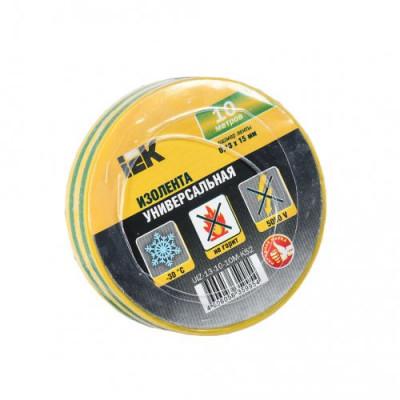 Ізострічка ПВХ (0,13х15 мм) жовто-зелена 10 метрів IEK, UIZ-13-10-10M-K52