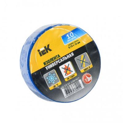 Ізострічка ПВХ (0,13х15 мм) синя 10 метрів IEK, UIZ-13-10-10M-K07