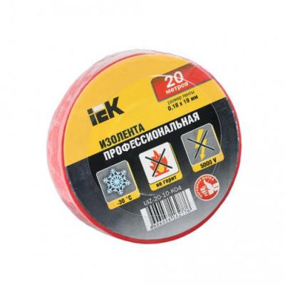 Ізострічка ПВХ (0,18х19 мм) червона 20 метрів IEK, UIZ-20-10-K04