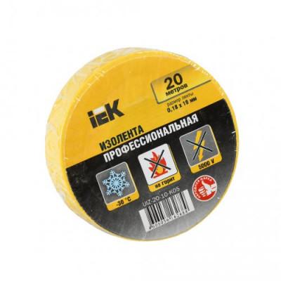 Ізострічка ПВХ (0,18х19 мм) жовта 20 метрів IEK, UIZ-20-10-K05