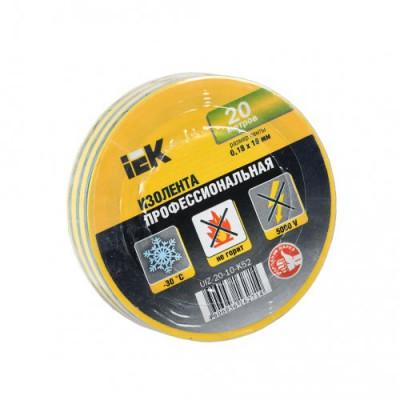 Ізострічка ПВХ (0,18х19 мм) жовто-зелена 20 метрів IEK, UIZ-20-10-K52