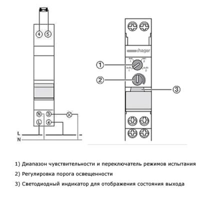 Cутінкове реле з датчиком для зовнішньої установки EEN100