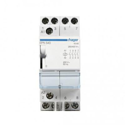 Імпульсне реле Hager EPN540, 4н.о., 16А, Uупр.=230V~ АС / 110V DC