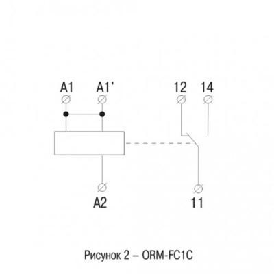 Інтерфейсне реле ORM 4 1 конт. група 24 В DC/AC IEK