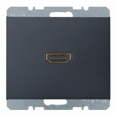 HDMI-розетка, підключення ззаду під кутом 90 град., антрацит, «K.1» 3315437006