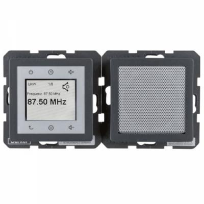 Radio Touch з динаміком, антрацитовий оксамитовий лак, Q.1/Q.3/Q.7 28806086