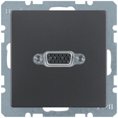 VGA-розетка, антрацит, Q.1/Q.3 3315406086