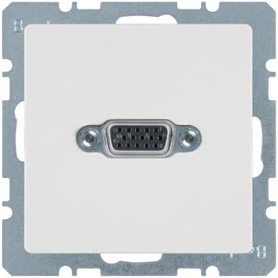 VGA-розетка з гвинтовими клемами, полярна білизна, Q.1/Q.3 3315416089