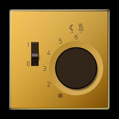 Термостат для теплого пола, JUNG FTRLS231GGO Золото