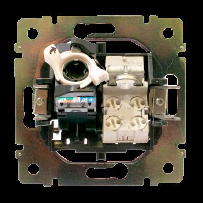 Інформаційна розетка «телефон + комп`ютер» 770080 Legrand Valena, колір білий
