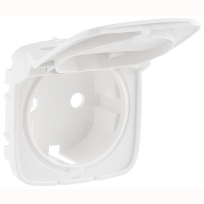 Valena ALLURE Накладка розетки 2К+З з кришкою Білий