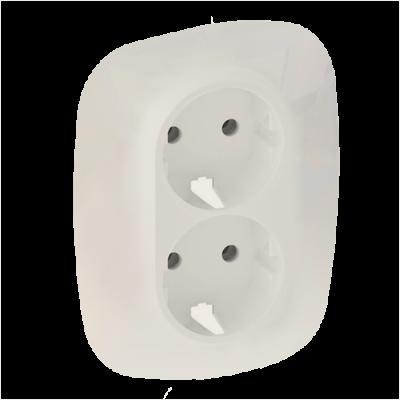 Valena ALLURE Накладка розетки подвійної 2К+З Слонова кістка