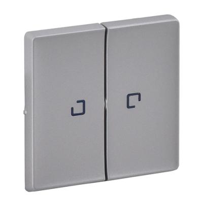 Valena LIFE Клавіша вимикача 2-клавішний з підсвічуванням алюміній