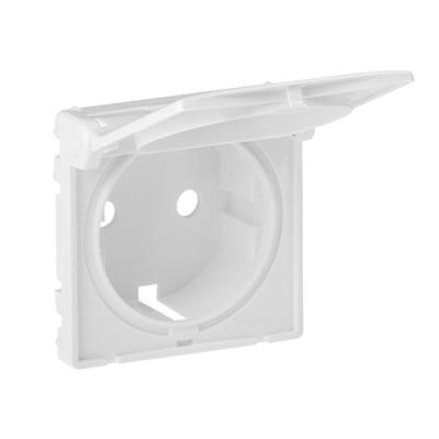 Valena LIFE Накладка розетки 2К+З з кришкою Білий