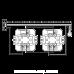 Valena LIFE Перемикач 10АХ 250В, автоматичні клеми Білий